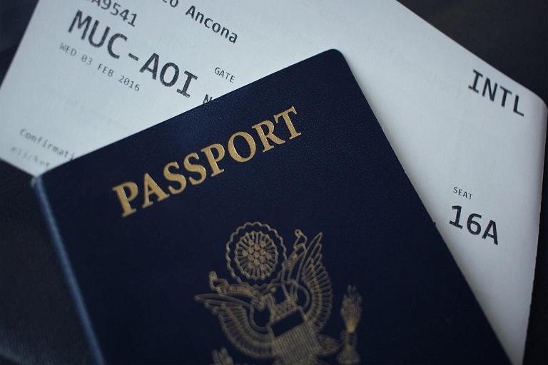 パスポートの写真