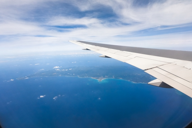 機内から見る空の写真