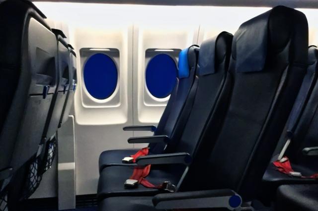 機内座席の写真