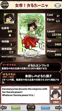 カードの説明は、日本語と英語で切り替え可能